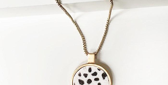 Monroe Leopard Print Necklace