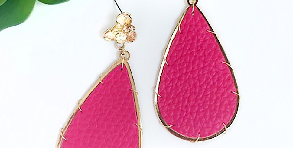 Miami Earrings (Hot Pink)