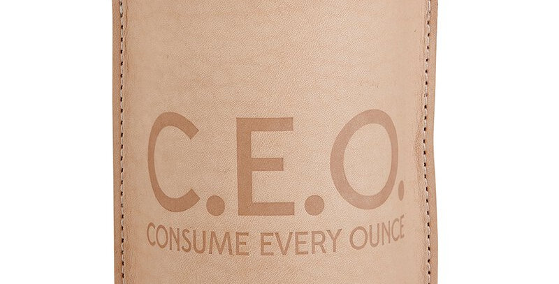 Leather Coozie - C.E.O.