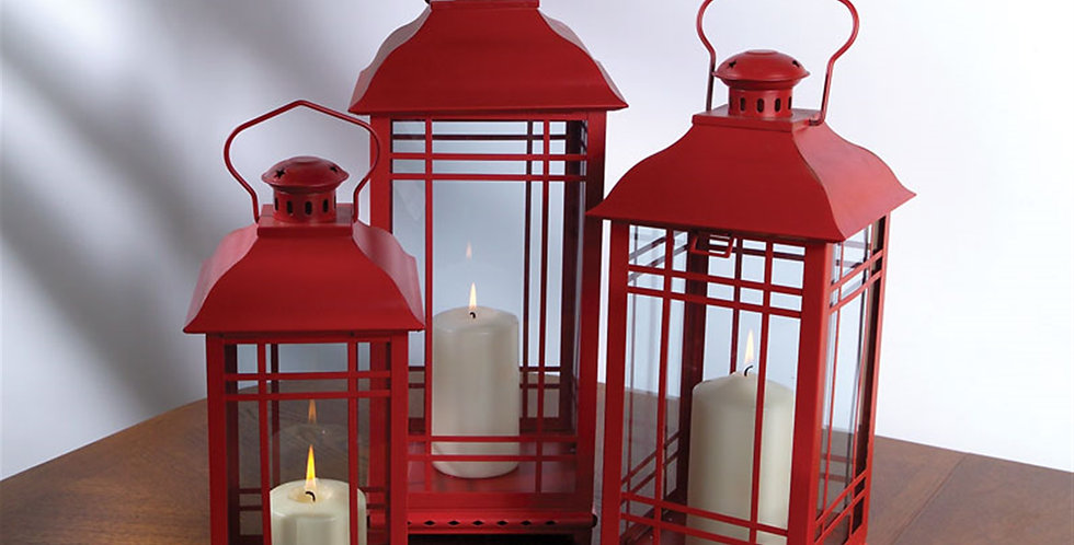 Red Lanterns (Set of 3)
