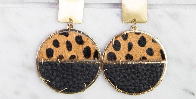 Sausalito Earrings (Cheetah)