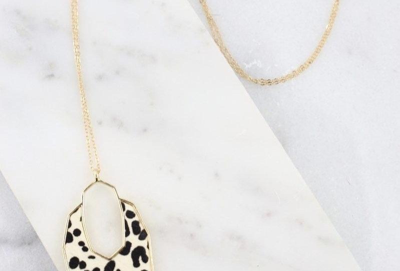 Geometric Animal Print Necklace
