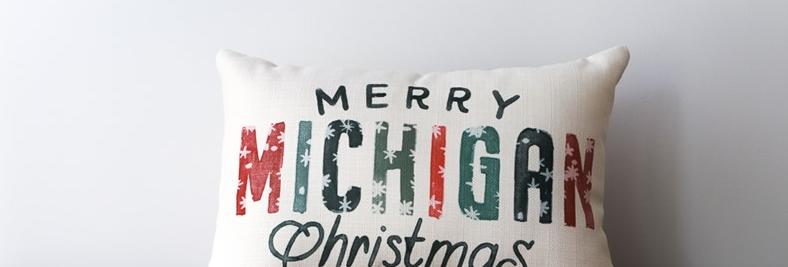 Snowflake Christmas State Pillow