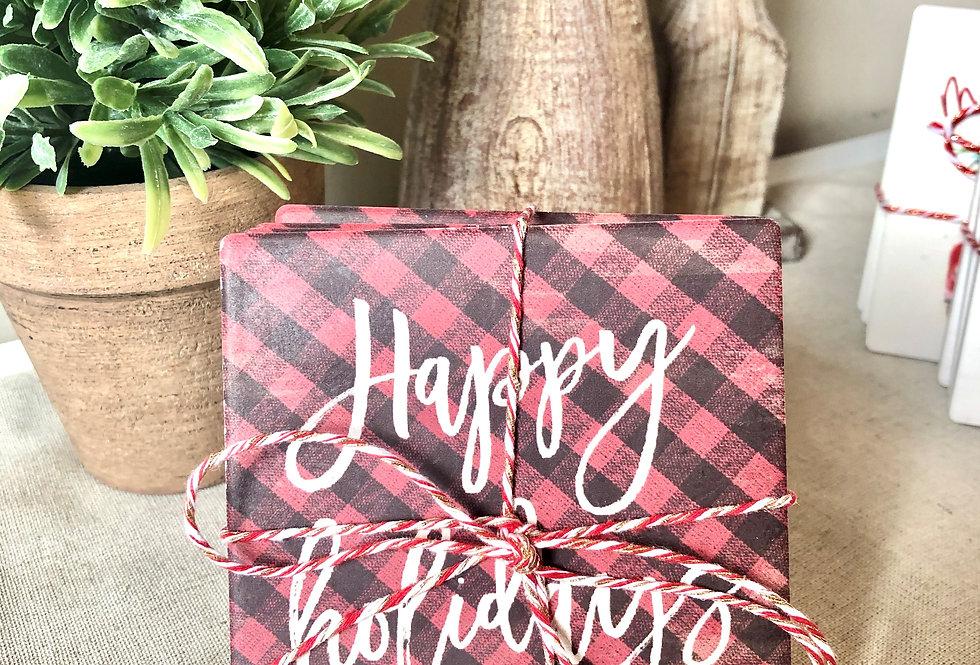 Coasters - Happy Holidays (Set of 4)