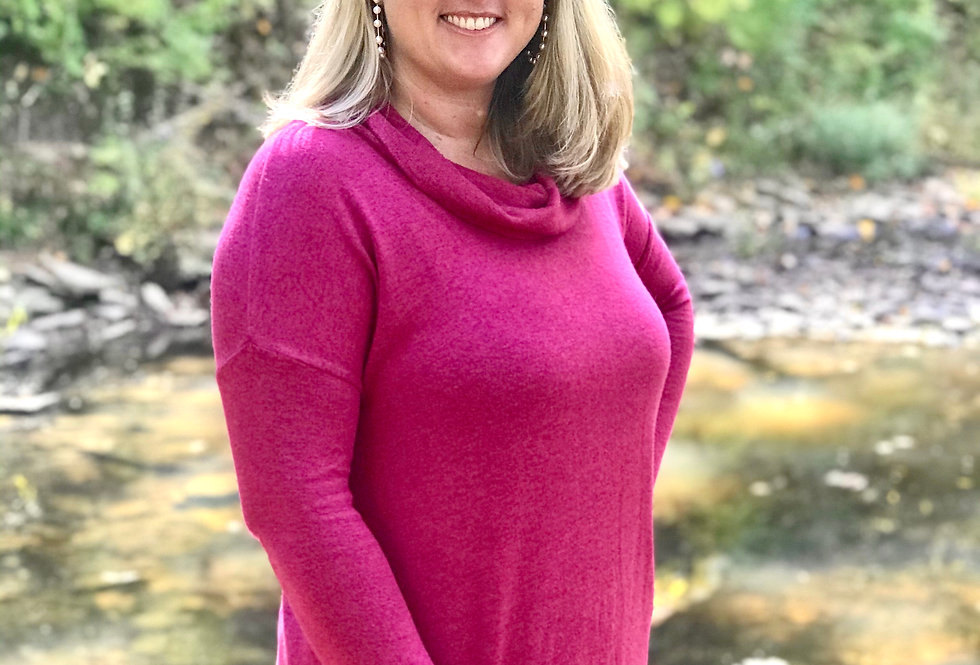 Cowl Neck Tunic (Cranberry)