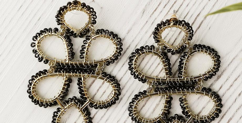Capella Earrings (Black)
