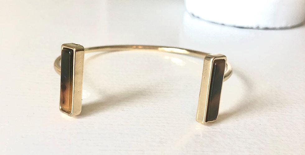 Rockport Cuff Bracelet (Dark Tortoise)