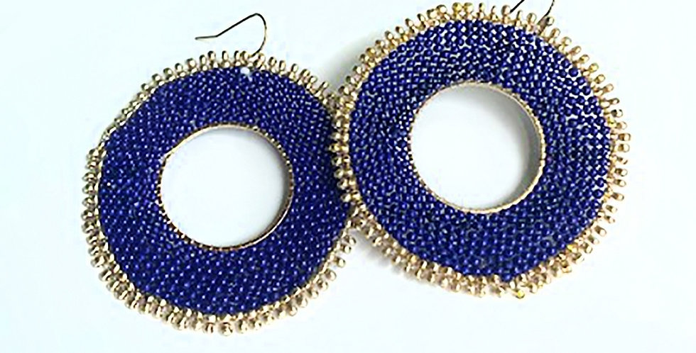 Celebration Bead Earrings (Royal)