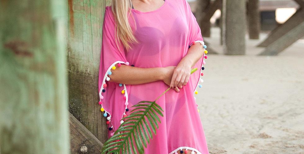 Pom Pom Cover Up (Pink)