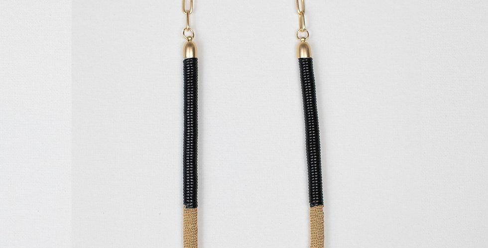 Seth Necklace - Black/Ivory