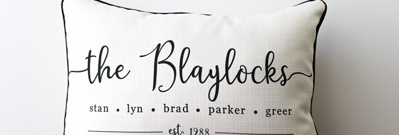 Family Names Established Pillow