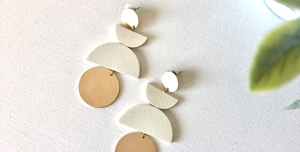 Norwich Earrings (Ivory)