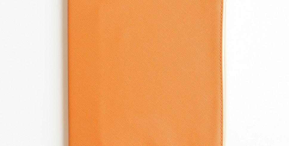 Zippered Vegan Leather Journal (Burnt Orange)