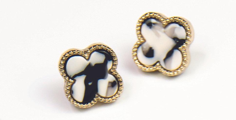 Seabrook Earrings (Black Tortoise)