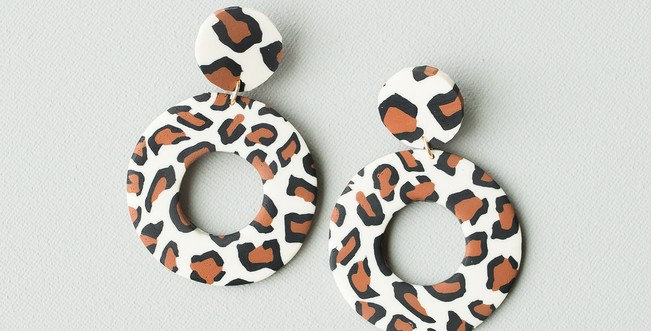 Marie Earrings (Leopard)