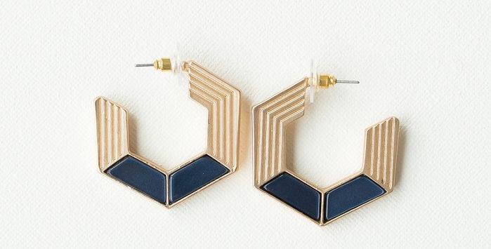 Harlow Earrings - Navy