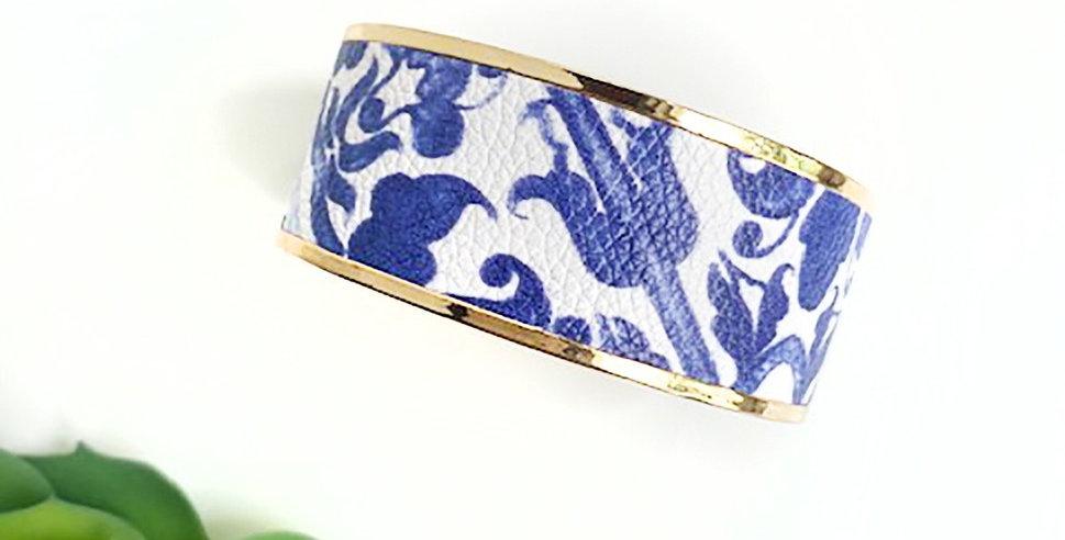 Monroe Cuff Bracelet (Chinoiserie)