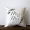 Thumbnail: Mr. & Mrs Established Greenery Pillow