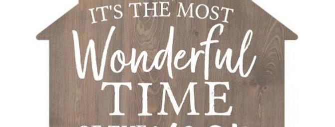Small Shape Decor - Most Wonderful Time