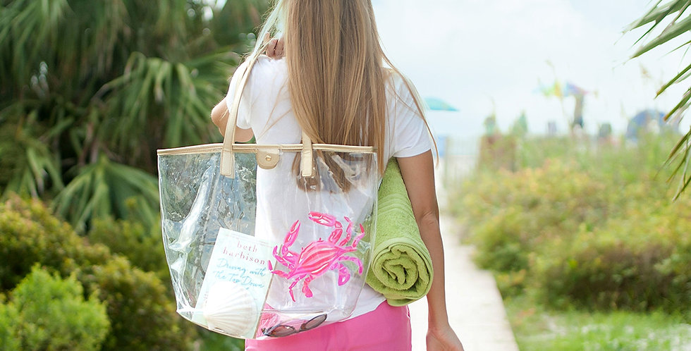 Clear Tote (Crab)