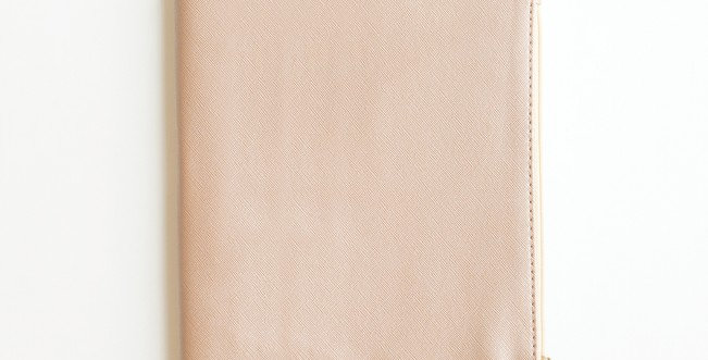 Zippered Vegan Leather Journal (Champagne)