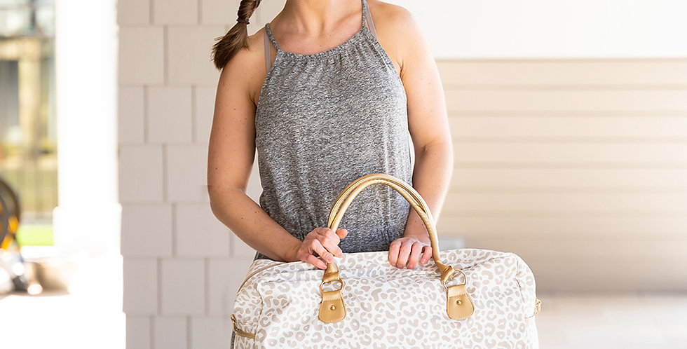 Natural Leopard Travel Bag
