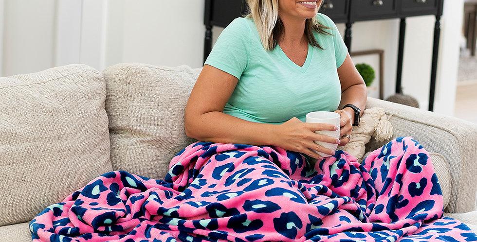 Pink Cheetah Plush Blanket