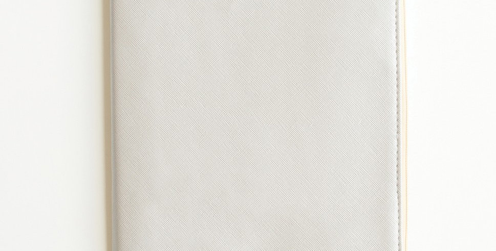 Zippered Vegan Leather Journal (Silver)