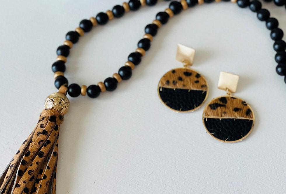 Hampton Cheetah Jewelry Set