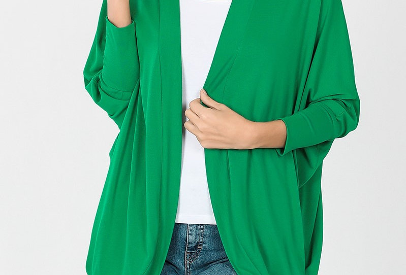 Cocoon Wrap Cardigan (Green)
