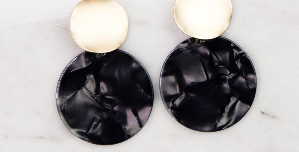 Barrington Earrings (Charcoal)
