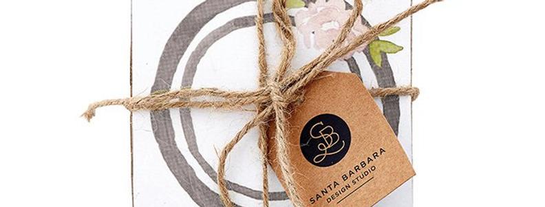 Cardboard Coasters - Floral