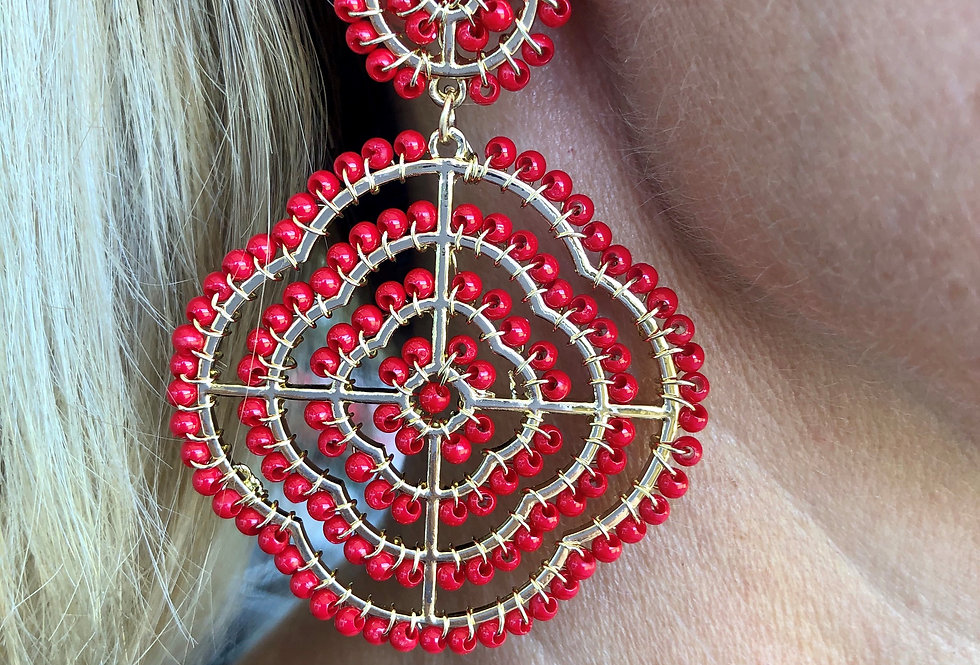 Pasadena Earrings (Red)
