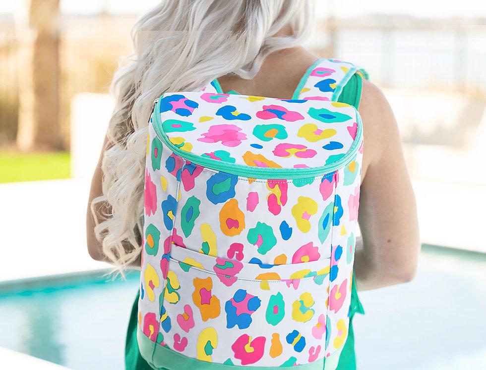 Fun Leopard Cooler Backpack
