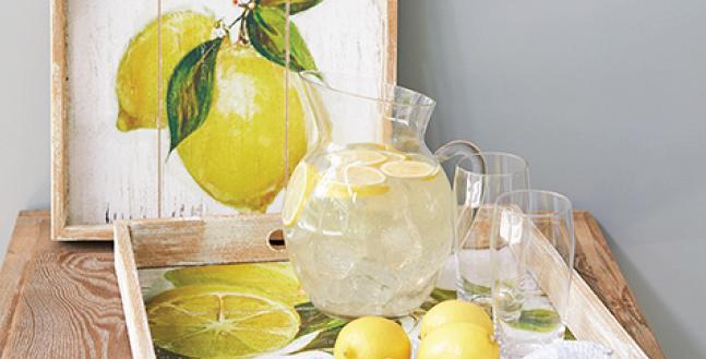 Lemon Tray Set