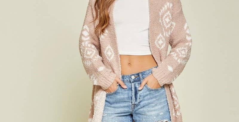 Aztec Inspired Sweater Cardigan