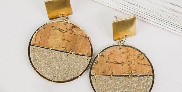 Sausalito Cork Earrings (Gold)