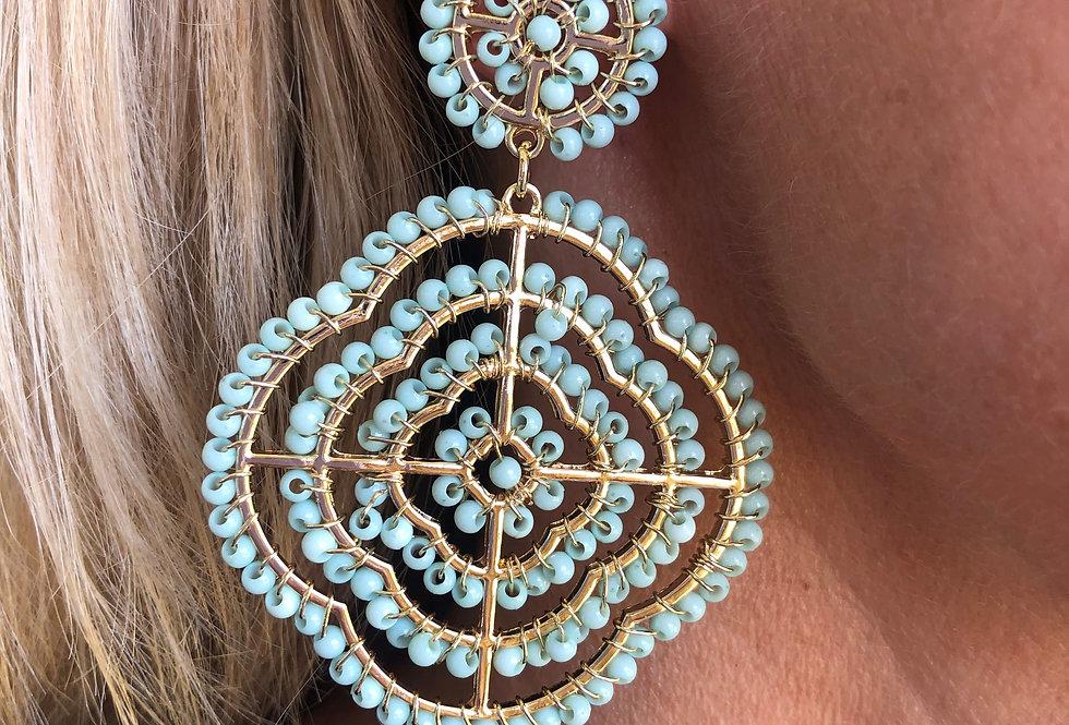Pasadena Earrings (Aqua)