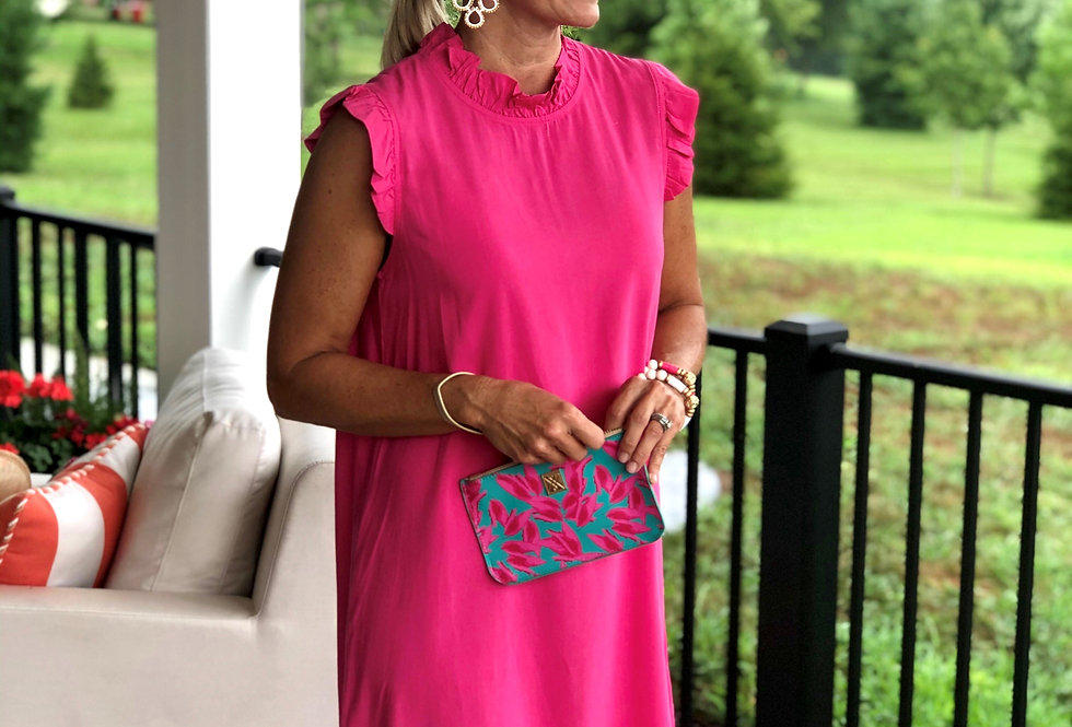Michelle Dress - Pop of Pink