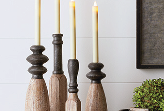 Two-Tone Candle Holders (Set of 4)