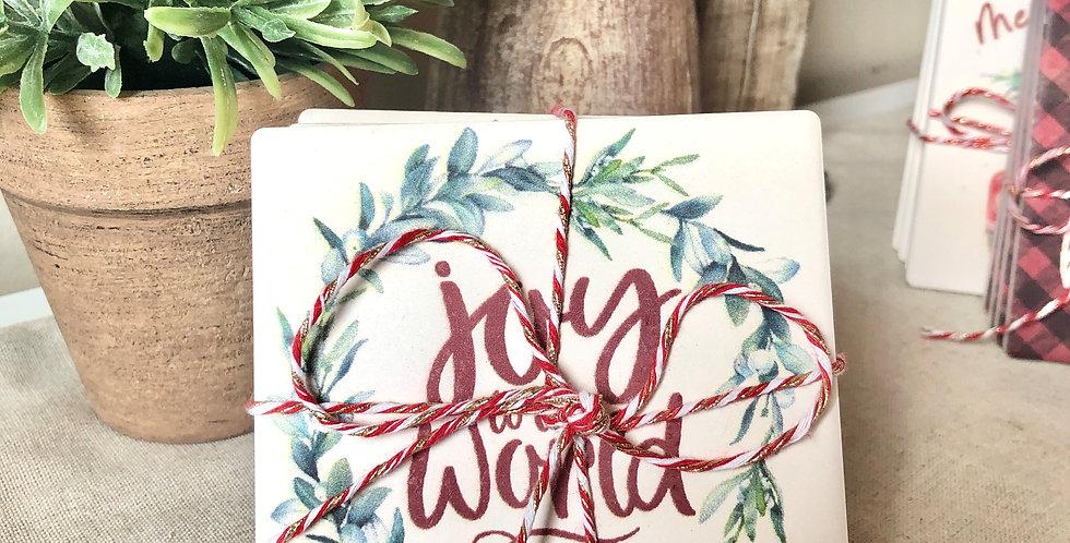 Coasters - Joy to the World (Set of 4)