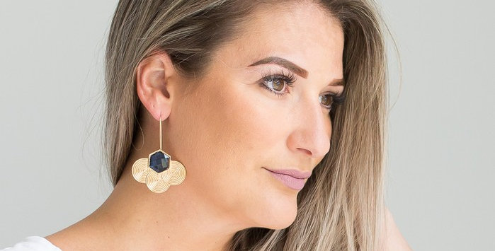Hayes Earrings (Navy)