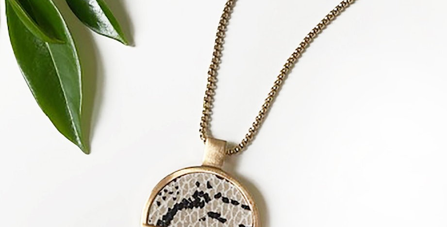 Monroe Snake Print Necklace