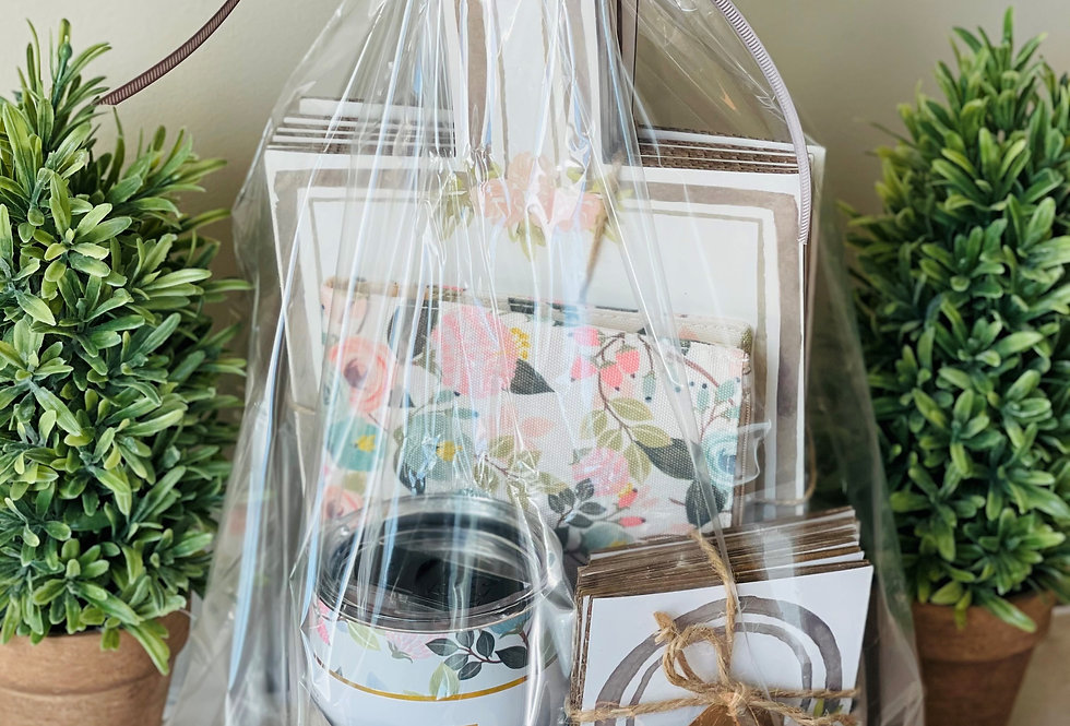 Peach Floral Gift Set