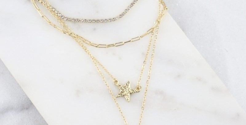 Four-Layer Animal Print Chain
