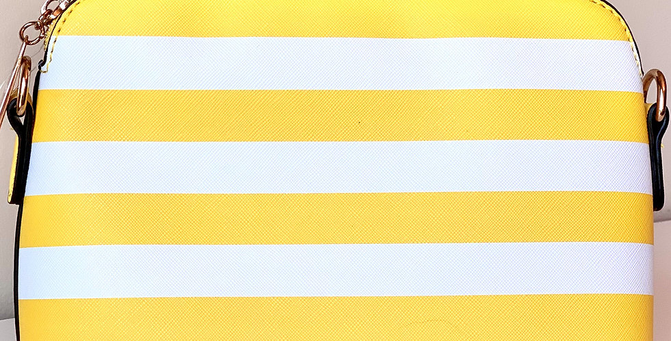 Stripe Crossbody Purse (Yellow)