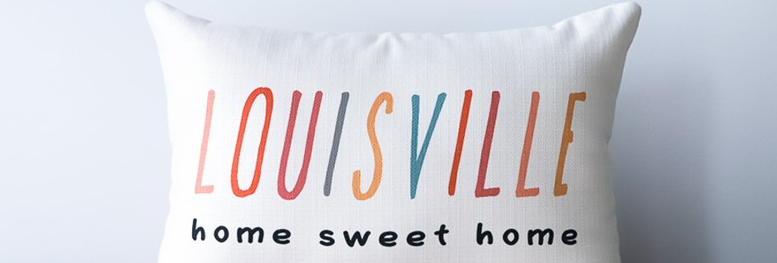 Thin Line Home Sweet Home Pillow