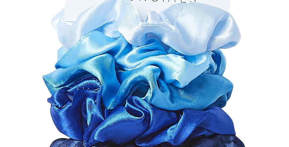 Satin Scrunchie Set (Blue)