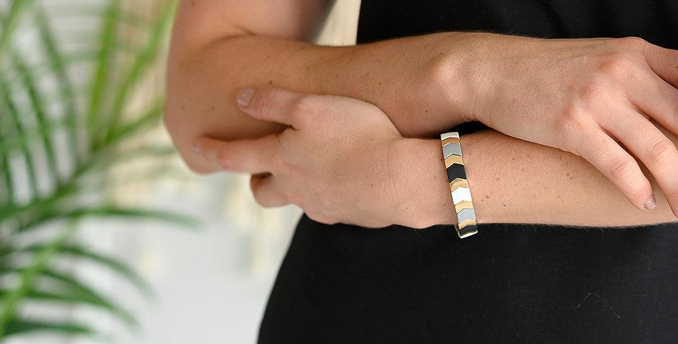 Chevron Stretch Bracelet (Black)