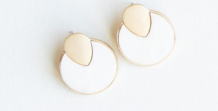 Annecy Earrings - White